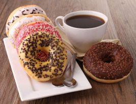 English Breakfast Tea With Tasty Donut Desserts